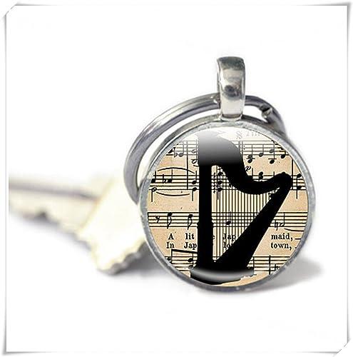 Amazon.com: Arpa llavero, música, regalo de amante de la ...