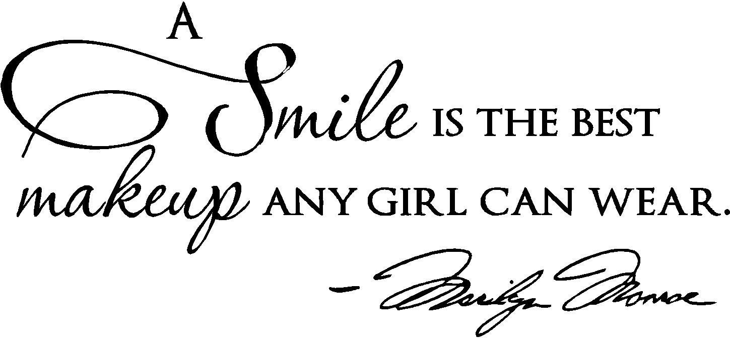 "Amazon.com: Epic Designs, "" A smile is the best makeup any girl ... for Smile Quotes And Sayings For Girls  56mzq"