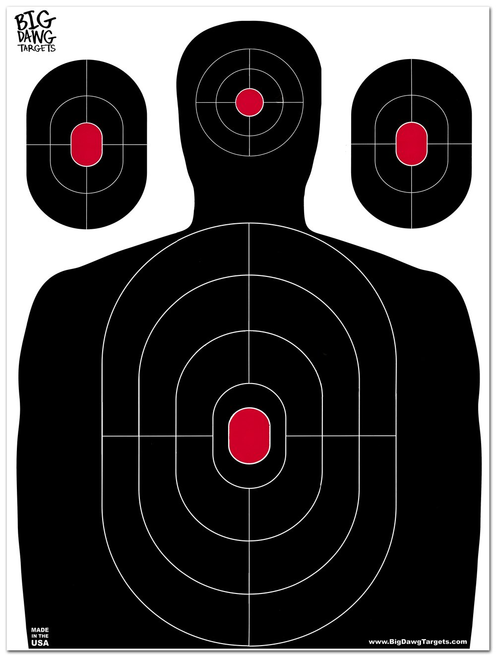 Big Dawg Targets - 18 X 24 Inch Silhouette Reactive Splatter Shooting Target - 25 Pack by Big Dawg Targets (Image #2)