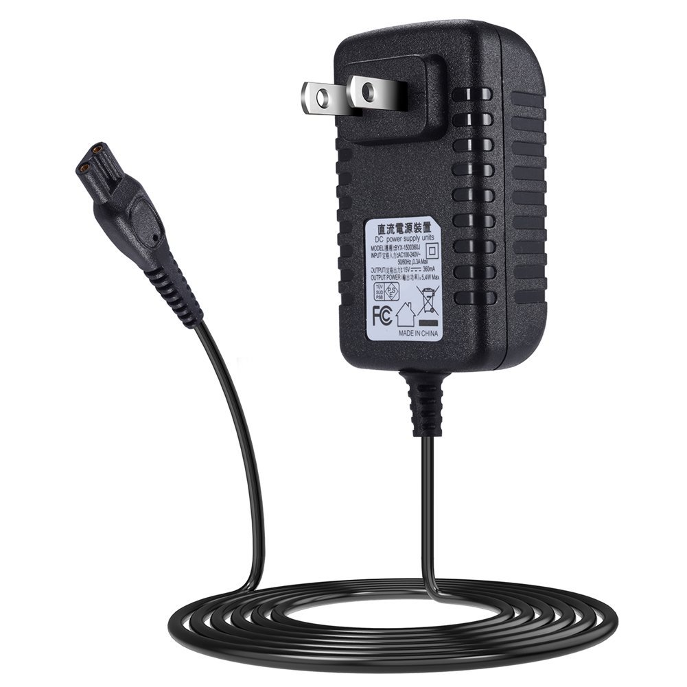 SoulBay 5V USB to DC 15V Power Cord for Philips Shaver Norelco QG/BG/HQ/RQ/XL/XLCC/X/HS/QC/QT/QS/at/PT HQ8505 Razor Series, Perfect for Travel