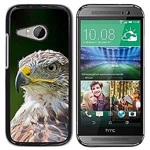 FlareStar Colour Printing Eagle Hawk Bird Feathers Green Summer cáscara Funda Case Caso de plástico para HTC ONE MINI 2 / M8 MINI