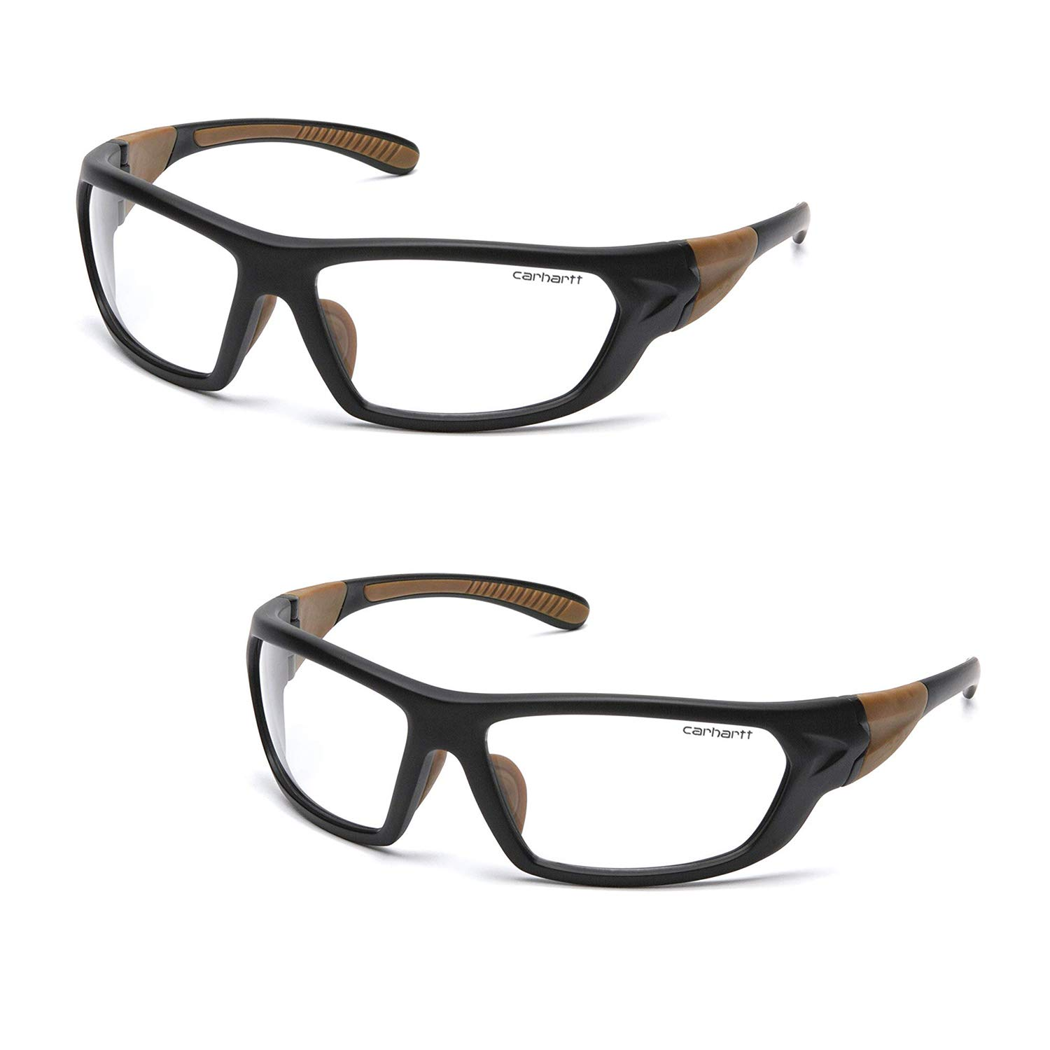 Carhartt Carbondale Safety Glasses with Clear Anti-Fog Lens (2 Pack) by Carhartt (Image #6)