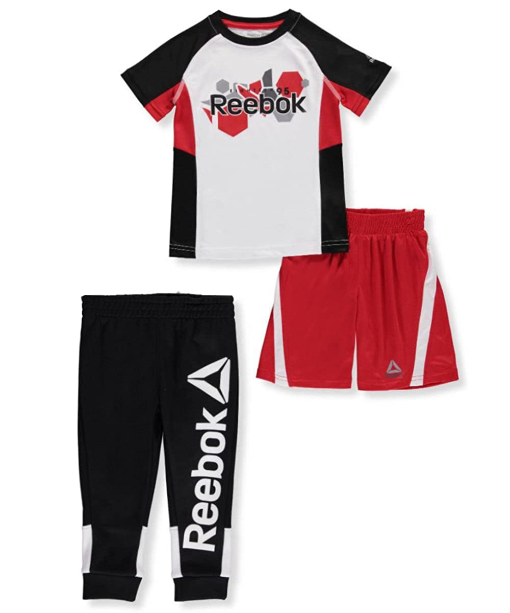 Reebok Boys' 3-Piece Short Set Outfit 3t