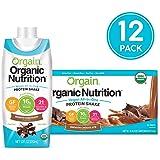 Orgain 素食植物营养奶昔,丝滑巧克力 - 代餐,16克蛋白质,21种维生素和矿物质,不含乳制品,无麸质,无乳糖,犹太洁食,11盎司(330ml),12瓶