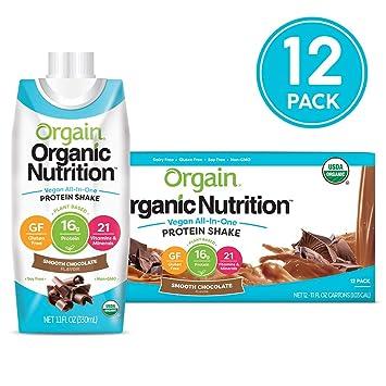 8c5384968 Amazon.com   Orgain Organic Vegan Plant Based Nutritional Shake ...