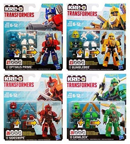 KRE-O Transformers Custom Kreons Collection 1: Optimus Prime, Bumblebee, Sideswipe & - Combiners Kreo Transformers