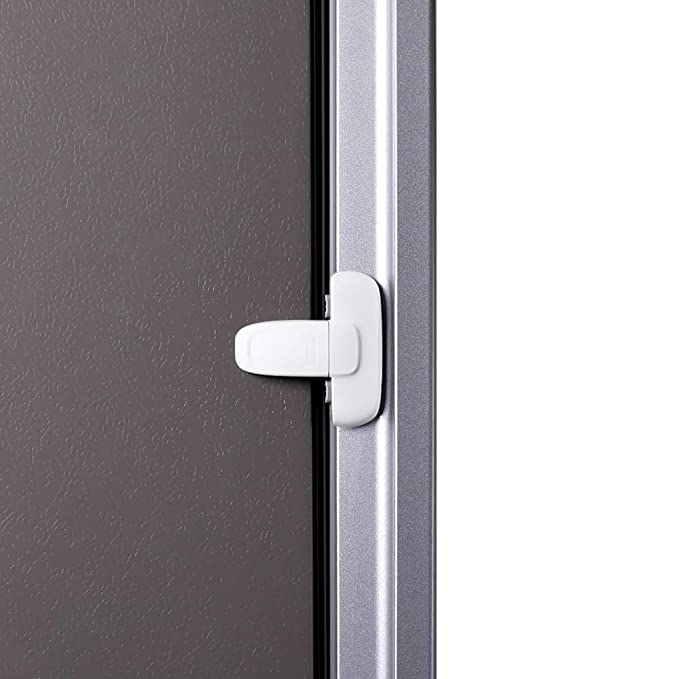 Green, 1 Pack EUDEMON Baby Safety French Fridge Door Lock Freezer Refrigerator Lock Cabinet Cupboard Lock for Childproof /& Pet Proofing Easy to Install and Use 3M Adhesive no Tools Need or Drill