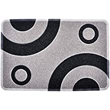 Smartcatcher Bullseye Silver Grey & Black Color Non Slip Kitchen Mats Cushioned, Anti-Fatigue Comfort + Premium Floor Protection, For Kitchen Sink And Standing Desk, 100% No Odor Emission, 36x24 In