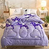 Polyester bed/bedding Warmth Full/Queen/Full/Twin Size Comforter Duvet Insert,Hypoallergenic Box Stitched,Printed Quilt,Horse Type,150×200cm(2Kg)