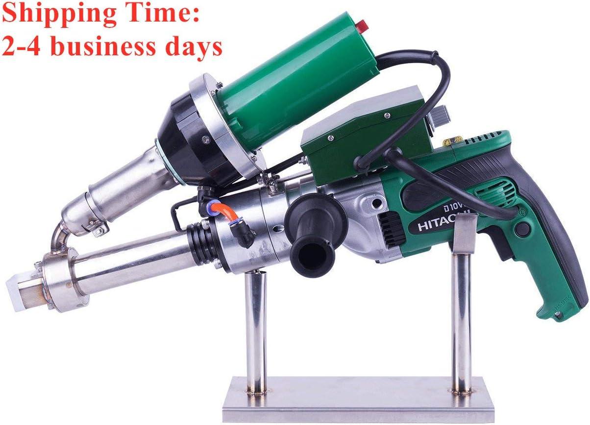 1600W Hand Extrusion Welder Gun Plastic Handheld Extruder Welding Gun PP HDPE LDPE Pipe Welding Machine 110V Extruder