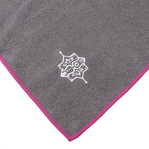 Yogaaddict Yoga Mat Towel And Hand Towel Combo Set: 100% Microfiber Yoga Towel And Hand Towel Combo Set, Non