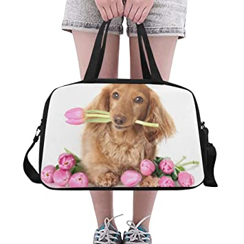 Organizador Gimnasia Bolsa tulipán Lindo Cachorro Perro ...