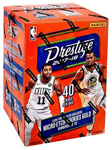 Blaster 8 Pack Trading Cards - 2017-18 Panini Prestige Basketball Blaster Box (8 Packs/5 Cards: 2 Micro-Etch Rookies, 8 Inserts/Parallels)