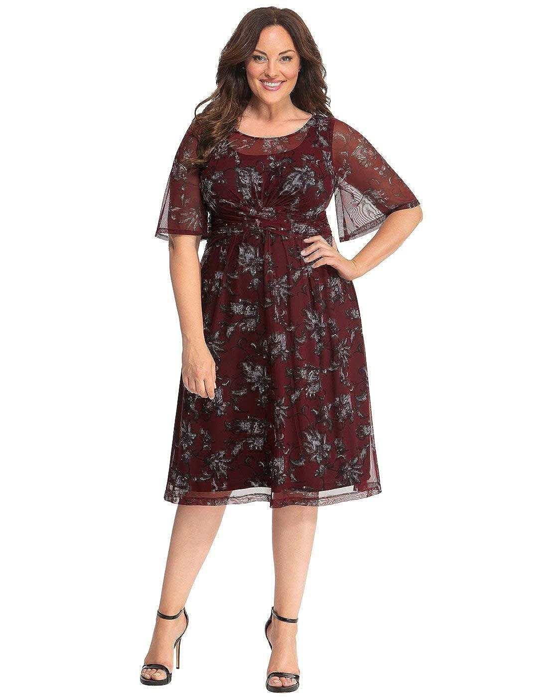 9f866015f05 Kiyonna Women s Plus Size Katarina Mesh Dress at Amazon Women s Clothing  store