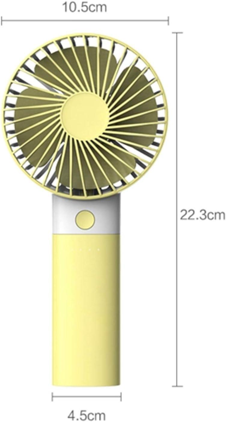 Color : Green Air Cooler Mini USB Personal Fan 3 Gear Wind Adjustable Electric Fan Home Office Household Outdoor Fan