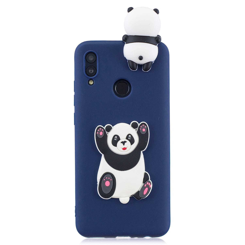 HopMore Compatible pour Coque Samsung Galaxy A40 Silicone Souple 3D Design Motif Panda Licorne Drôle Etui Étui Antichoc Ultra Mince Fine Housse Protection pour Fille Femme - Unicorn Green
