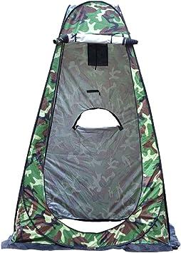 camping 120 x 120 x 190 cm al aire libre playa inodoro tienda de campa/ña port/átil que cambia de privacidad con bolsa de transporte Tienda de campa/ña plegable para inodoro o ducha para camping