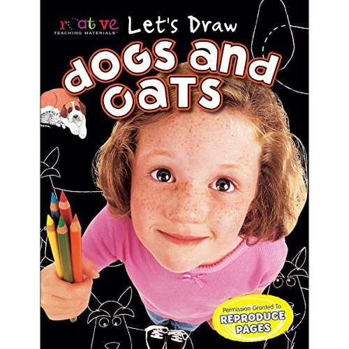 pbs-publishing-ctmld-1032-creative-teaching-materials-lets-draw-book-dogs-cats-by-pbs-publishing