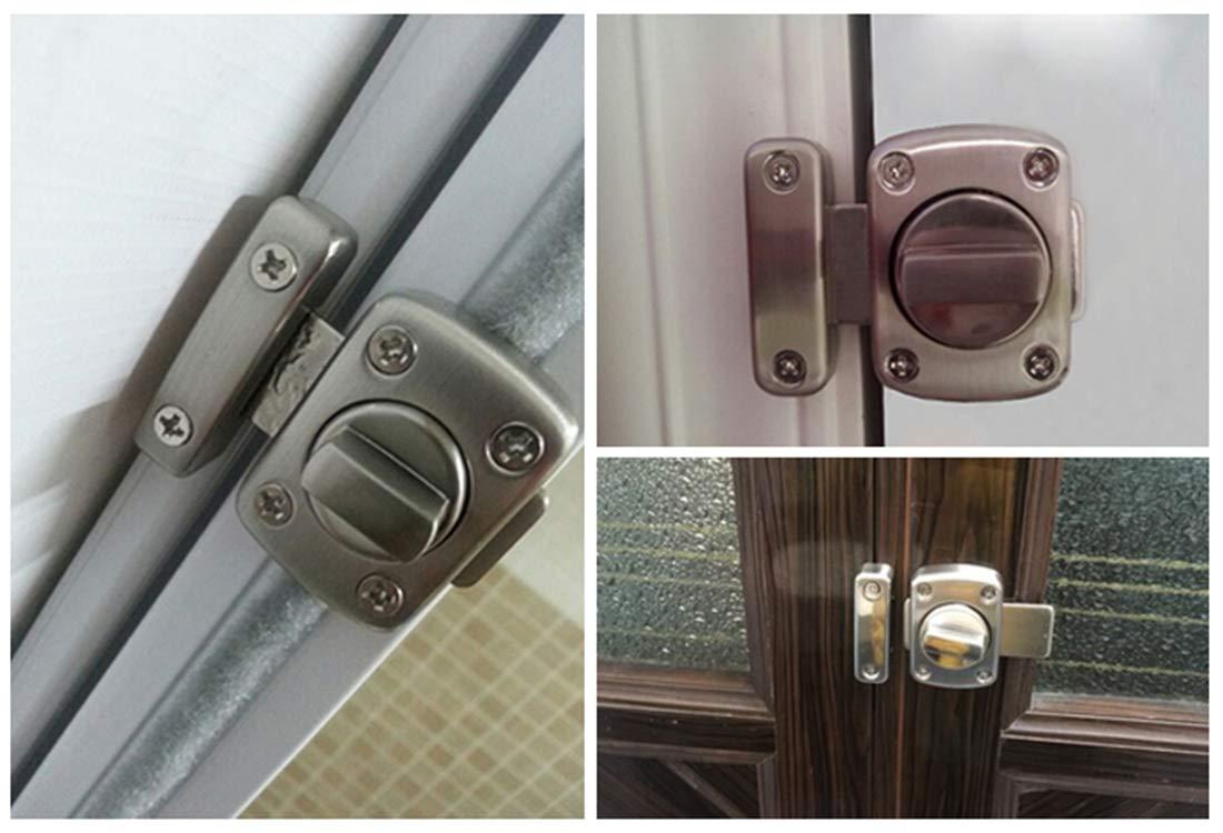 Concisea Rotaci/ón Perno Puerta Latch Door Lock Cerradura Antirrobo Puerta de Ba/ño Puerta de Armario Aplicable a Varias Puertas