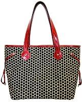 Mia Bossi Emma Diaper Bag, Black Cherry