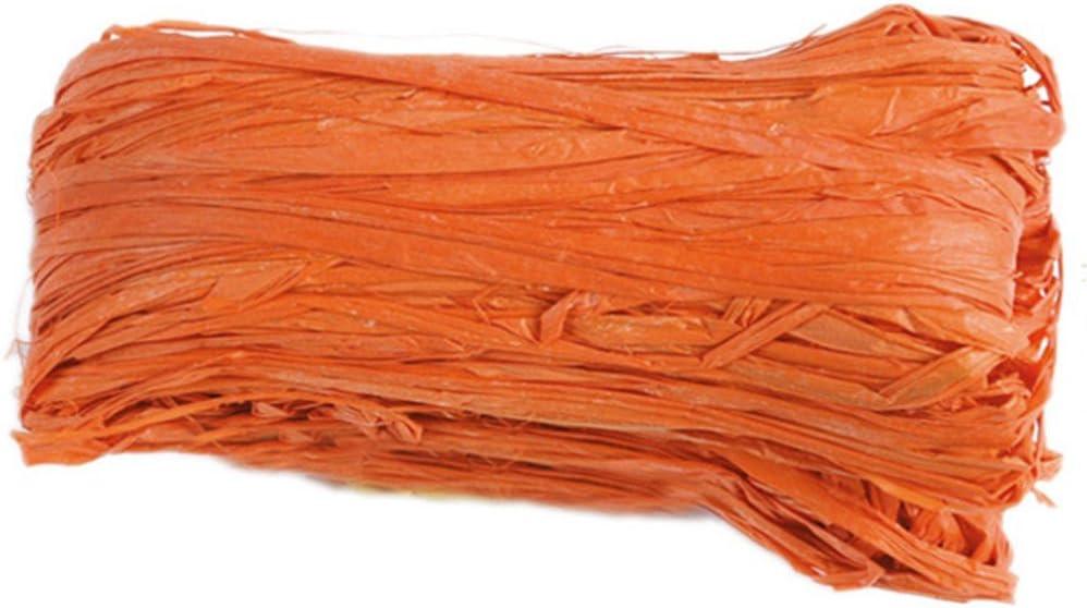 Buding Bast Papierband Geschenkband Geschenkverpackung Packschnur F/ür Handwerksprojekte Weben Und G/ärtnern 210 M Bast Raffia Natur Papierschnur