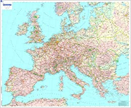 Carte Europe Routes.Europe 2004 Michelin Encapsulated Wall Maps Amazon Co Uk