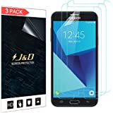 Galaxy J7 2017, Galaxy J7 V, Galaxy J7 Perx, Galaxy J7 Sky Pro Screen Protector, J&D Premium HD Clear Film Shield Screen Protector for Samsung Galaxy J7 2017/J7 V/J7 Perx/J7 Sky Pro (3 Packs)