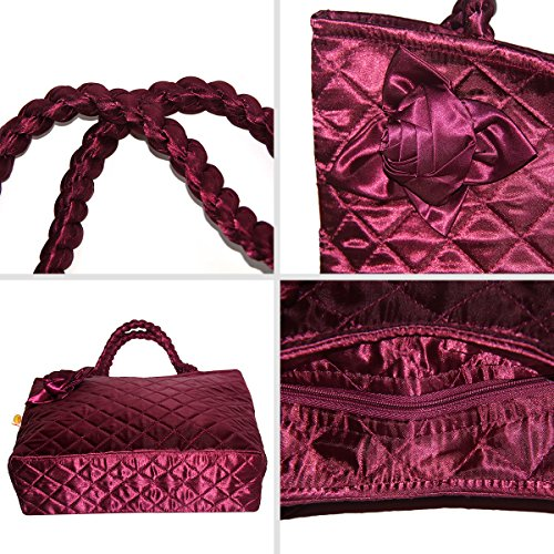 Ladies Ptb079 Pataya Messenger Bag Wine Patent 02 red Bag Rose qqXdrR