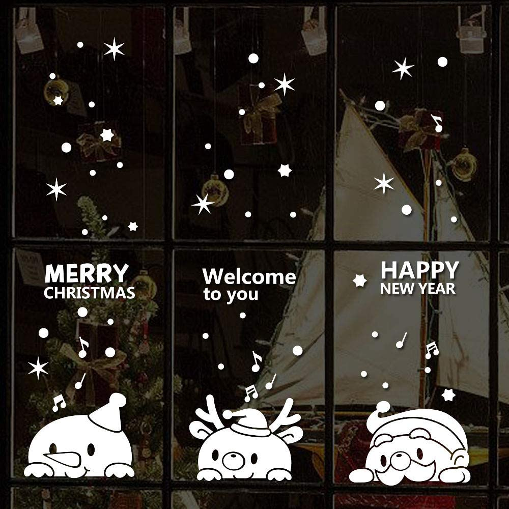 Christmas Angel Pendant Wall Stickers Window Stickers Decoration DIY Waterproof