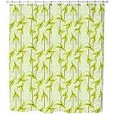 Uneekee Organia Shower Curtain: Large Waterproof Luxurious Bathroom Design Woven Fabric