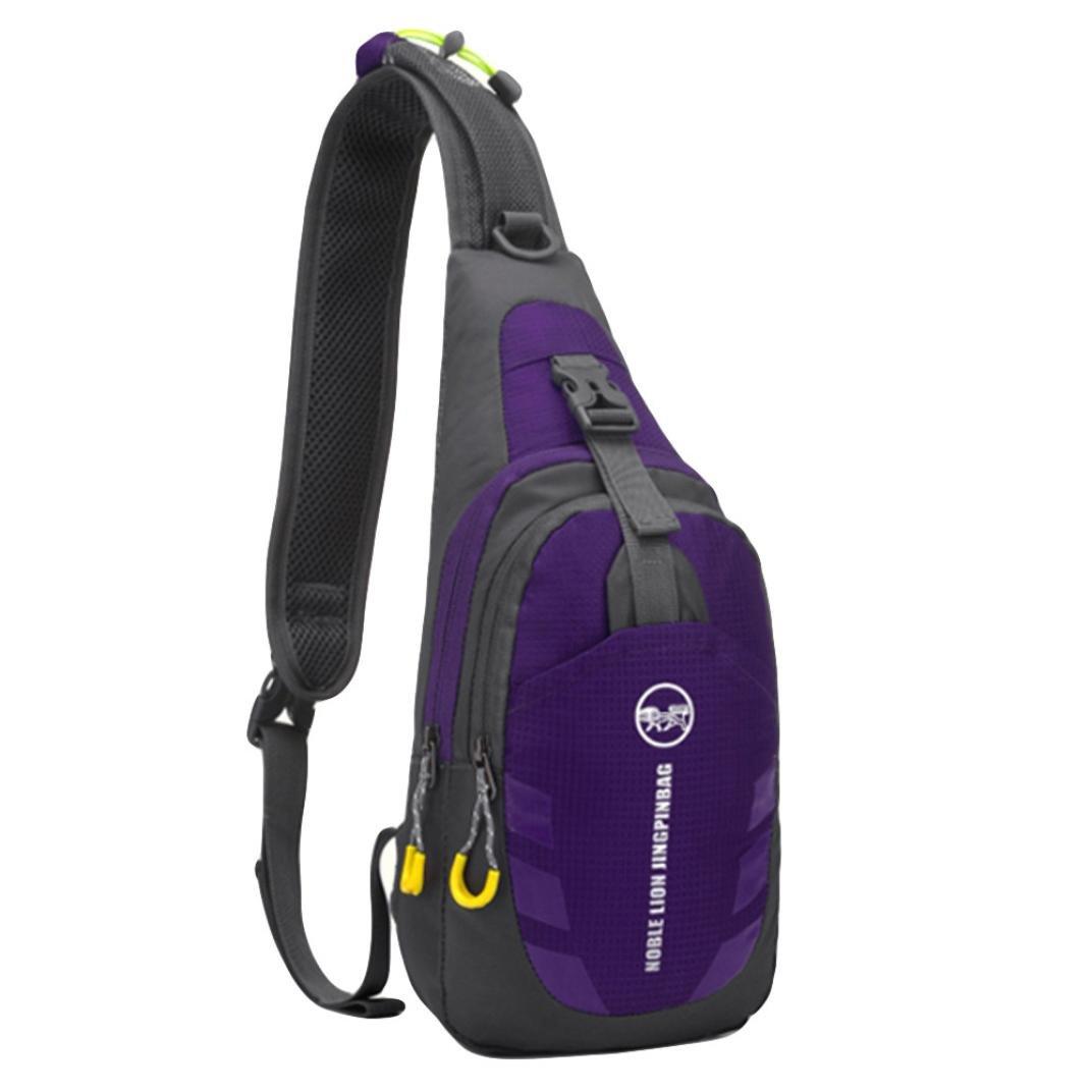 0b01d9808237 Amazon.com   KONFA Teen Boys Girls Travel School Conrast Colors Single  Shoulder Crossbody Chest Bag (Wine)   Beauty