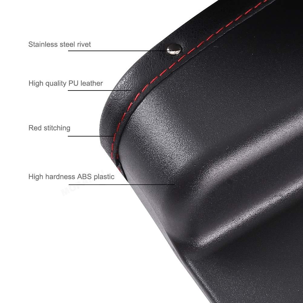 MOPANXI Car Seat Pockets PU Leather Car Console Side Organizer Seat Gap Filler Catch Caddy with Non 2 Pack Slip Mat 9.2x6.5x2.1 inch Black