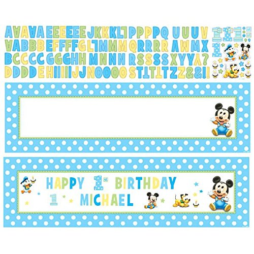 Mickey's 1st Birthday Customizable Giant Banner