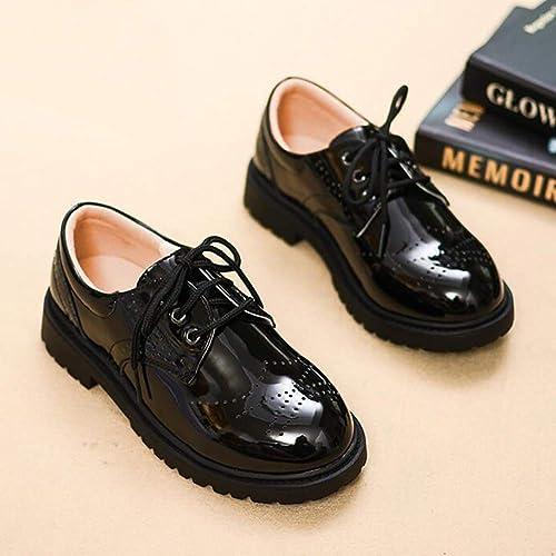Minibella Boys Brogue Dress Oxfords School Uniform Shoes