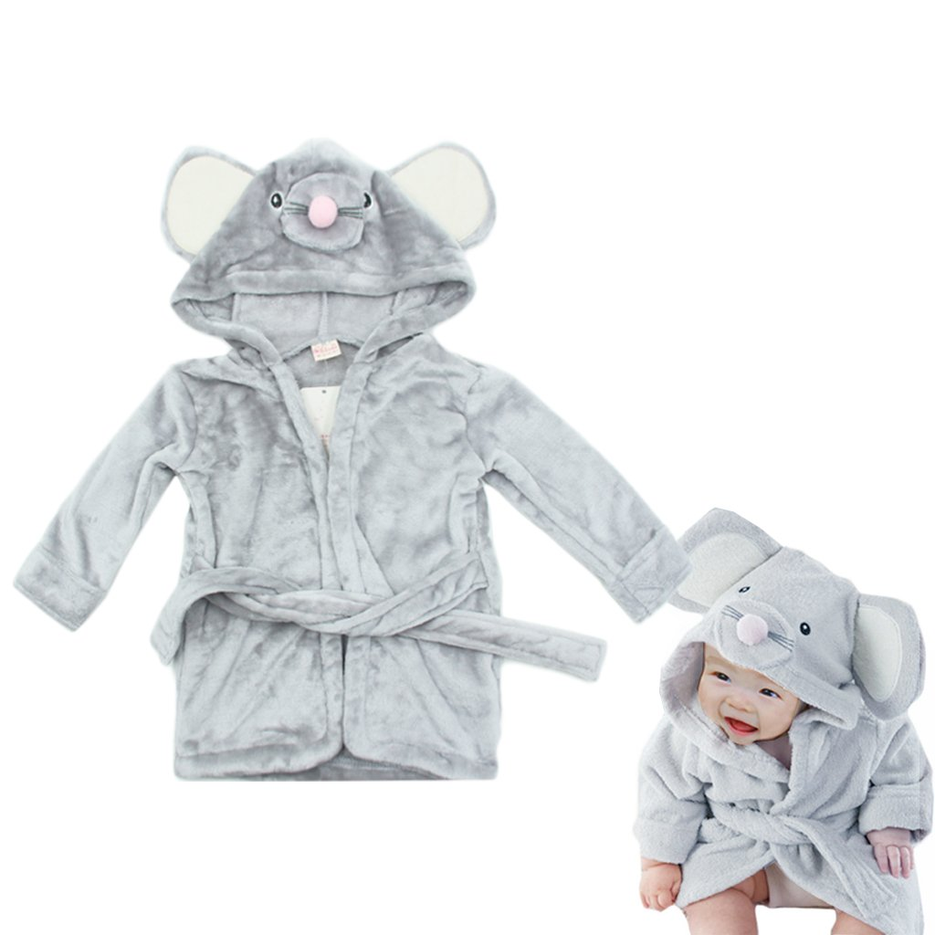 Baby Bathrobe Hooded Pajamas 3D Cartoon Animal Towel For Toddler Boys Girls Sleepwear Vine panda Vine Trading Co. Ltd B161010YP006012V