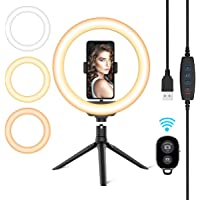 Cshidworld 10.2'' LED Selfie Ring Light with Tripod Stand & Phone Holder
