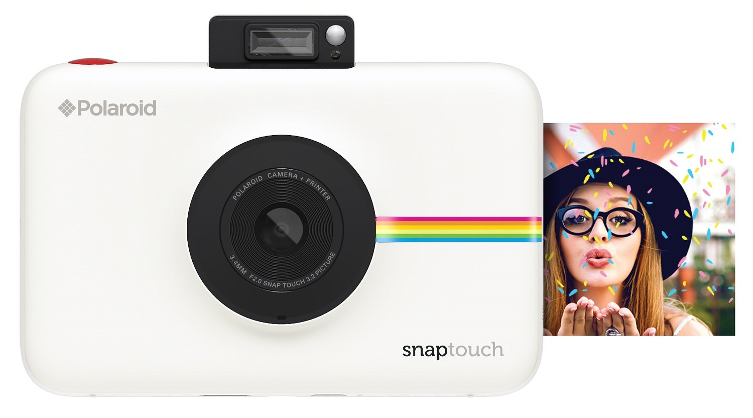 8f0681533ab06 Amazon.com   Polaroid Snap Touch Portable Instant Print Digital Camera with  LCD Touchscreen Display (White)   Camera   Photo