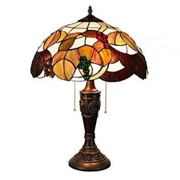 AYEN Lámparas de Mesa Estilo Tiffany Creativas Vidrios de ...