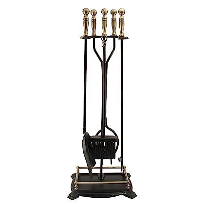 Awesome Panacea 15006 Antique Fireplace Toolset With Brass Handles Five Piece Set Beutiful Home Inspiration Xortanetmahrainfo