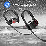 Vacio Q6 bluetooth headphones IPX7 Sweatproof Earbuds for Workout 8 Hour Battery Noise Cancelling CVC 6.0 Headsets Heavy Bass Headset with mic for iPhone 7/8 X, Samsung S8/9,Galaxy Note 8/9,Android