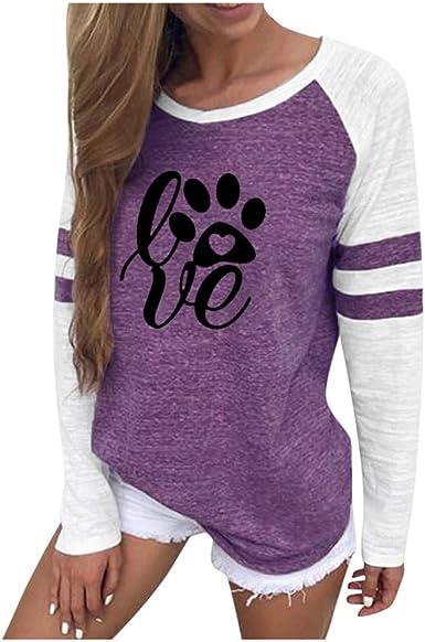 Camiseta de Manga Corta para Mujer, de algodón, para niña, Color Negro Violet02 Small(34): Amazon.es: Ropa y accesorios