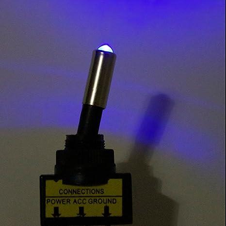 Mintice/™ 10 X pulsante veicolo auto auto spinta interruttore a levetta 12V 20A LED Rosso palo della luce 3pin