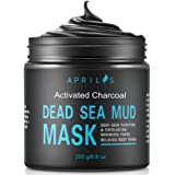 Dead Sea Mud Mask with Activated Charcoal, Deep Cleansing Clay Face Mask for Reduction in Pores, Spots, Blackheads & Acne, Rejuvenated to Smooth & Moisturizing Face, 8.8 oz