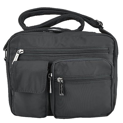 73b65239fa Volcanic Rock Shoulder Bags Messenger Handbags Multi Pocket Waterproof  Crossbody Bags(6098-Gray)