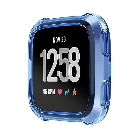 aaerp Funda Protectora de Silicona Suave de 5 Colores para Fitbit Versa Actividad Reloj Inteligente Accesorios