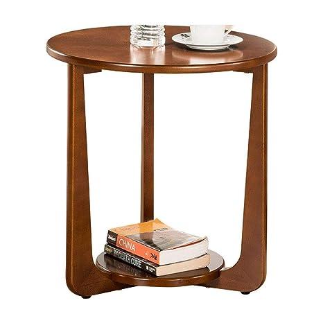 Mesa pequeña redonda de madera del sofá de la mesa redonda ...