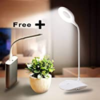 Smart One Rocklight Plastic Rechargeable LED Table Study Lamp with 3 Brightness Level with Flexible Emergency Light (White)