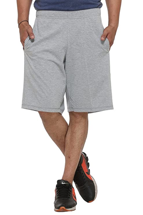 VIMAL Men's Cotton & Crush Short (D12-Anthra-P) Men's Sports Shorts at amazon