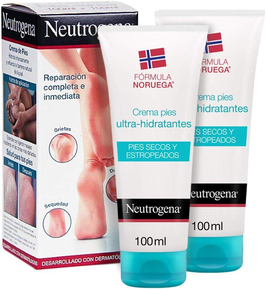 Neutrogena Crema de Pies Secos y Agrietados, Ultra Hidratante, Pack 2 x 100 ml: Amazon.es: Belleza