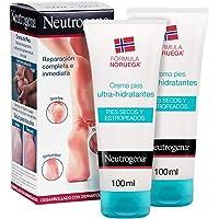 Neutrogena Crema de Pies Secos y Agrietados, Ultra Hidratante, Pack 2 x 100 ml
